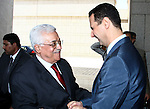 Palestinian President Mahmoud Abbas meets with Syrian President Bashar al-Assad, in The Syrian Capital of Damascus.