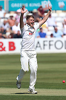 Jamie Porter of Essex with an appeal for a wicket during Essex CCC vs Middlesex CCC, Specsavers County Championship Division 1 Cricket at The Cloudfm County Ground on 26th June 2017