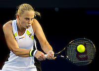 JELENA DOKIC (AUS) against MARION BARTOLI (FRA) in the second round of the Women's Singles. Marion Bartoli beat Jelena Dokic 6-3 6-2 ..19/01/2012, 19th January 2012, 19.01.2012..The Australian Open, Melbourne Park, Melbourne,Victoria, Australia.@AMN IMAGES, Frey, Advantage Media Network, 30, Cleveland Street, London, W1T 4JD .Tel - +44 208 947 0100..email - mfrey@advantagemedianet.com..www.amnimages.photoshelter.com.