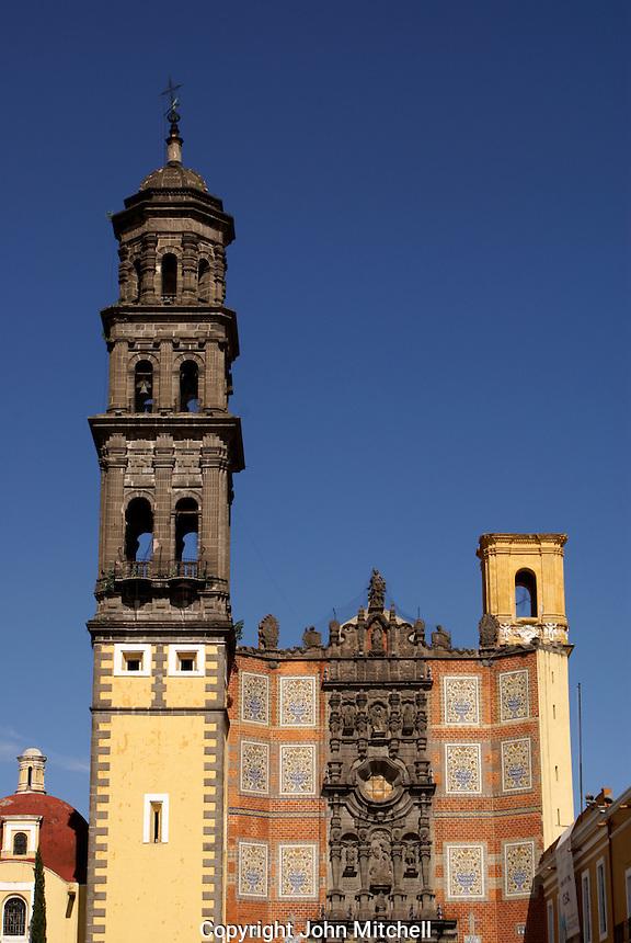 Templo San Francisco church in the city of Puebla, Mexico