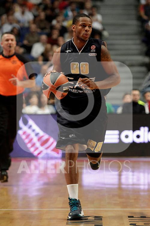 EA7 Emporio Armani Milan´s Haynes during Euroleague Basketball match. November 01,2013. (ALTERPHOTOS/Victor Blanco)