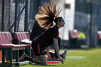 Angela Orlando of AS Roma warms up prior to the Women Italy cup round of 8 second leg match between AS Roma and Roma Calcio Femminile at stadio delle tre fontane, Roma, February 20, 2019 <br /> Foto Andrea Staccioli / Insidefoto