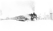 &quot;A near white out for the San Juan on a close to last trip.  It appears to have 7 or 8 cars in the K-36's consist.&quot;<br /> D&amp;RGW  Dulce, NM  1/30/1951
