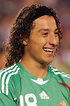 June 04 2008:  Andres Guardado (Deportivo la Coruna / SPA) (18) of Mexico.  During Mexico's 2008 USA Tour in preparation for qualification for FIFA's 2010 World Cup, the national soccer team of Mexico was defeated by Argentina 1-4 at Qualcomm Stadium, in San Diego, CA.