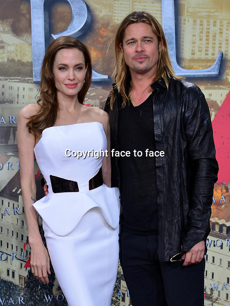 Angelina Jolie, Brad Pitt<br /> Premiere &quot;World War Z&quot;, Sony Center, Berlin, 4.6.2013<br /> <br /> <br /> <br /> <br /> <br /> Credit: E. Schroeder/face to face