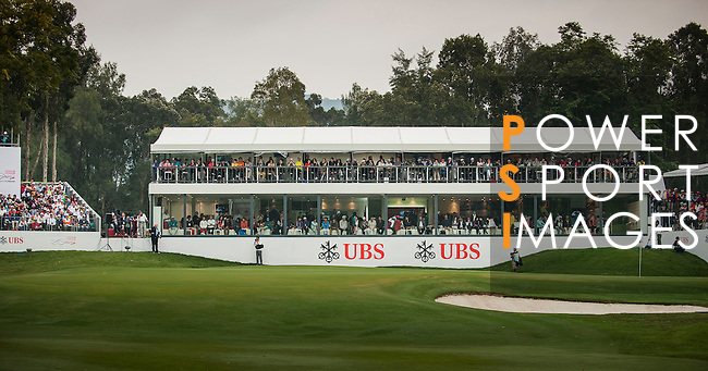General view of the 18th hole during day four of the UBS Hong Kong Open Championship at the Hong Kong Golf Club on 18 November 2012, in Fanling. Photo by Victor Fraile / The Power of Sport Images