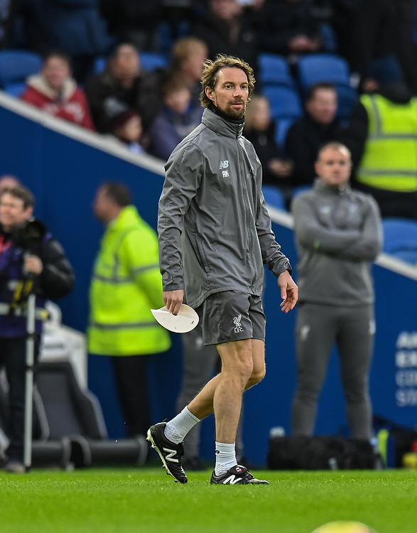 Liverpool's head of fitness and conditioning Andreas Kornmayer<br /> <br /> Photographer David Horton/CameraSport<br /> <br /> The Premier League - Brighton and Hove Albion v Liverpool - Saturday 12th January 2019 - The Amex Stadium - Brighton<br /> <br /> World Copyright © 2018 CameraSport. All rights reserved. 43 Linden Ave. Countesthorpe. Leicester. England. LE8 5PG - Tel: +44 (0) 116 277 4147 - admin@camerasport.com - www.camerasport.com