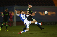 Ben Stevenson of Colchester United and Carl Winchester of Forest Green Rovers during Colchester United vs Forest Green Rovers, Sky Bet EFL League 2 Football at the JobServe Community Stadium on 12th March 2019
