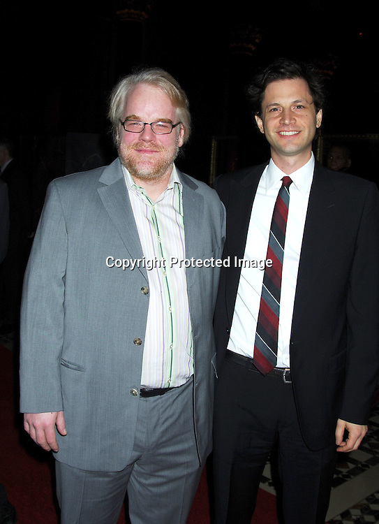 Philip Seymour Hoffman and Bennett Miller ..at the 2005 New York Film Critics Circle 71st Annual Awards Dinner on January 8, 2006 at Ciprianis 42nd Street...Photo by Robin Platzer, Twin Images