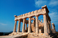 .The Temple of Aphaia, island of Aegina, Greece...