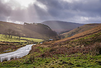Trough of Bowland looking towards Sykes, Forest of Bowland, Lancashire.