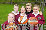 ON THE BALL: Some of the members of Team Kerry Vixens Basketball Club in Athea which is recruiting new members at present, l-r: Lydia Murphy, Rachel Greaney, Grace Ryan, Samantha Ahern, Ciana Murphy.