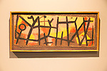 'Enclosure for Pachyderms' 1940, by Paul Klee (1879-1940), oil on canvas, Kode 4 art gallery Bergen, Norway - check copyright status for intended use