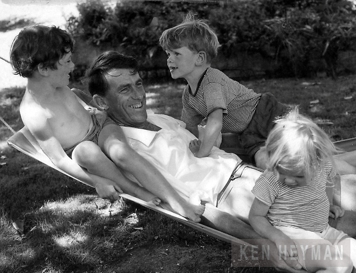 Sir Edmund Hillary with kids