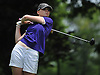 Ceili Howland of Sayville tees off the 10th Hole of Bethpage State Park's Yellow Course during the first round of the NYSPHSAA girls golf state championship on Saturday, June 4, 2016.