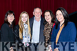 Actor Tom Lawlor with his cousins l-r: Brid and Aoife King Kilmoyley and Rachel Foley and Rosemary O'Connor Killarney at the  Dead Along the Way Premiere in Killarney Cinema on Tuesday night