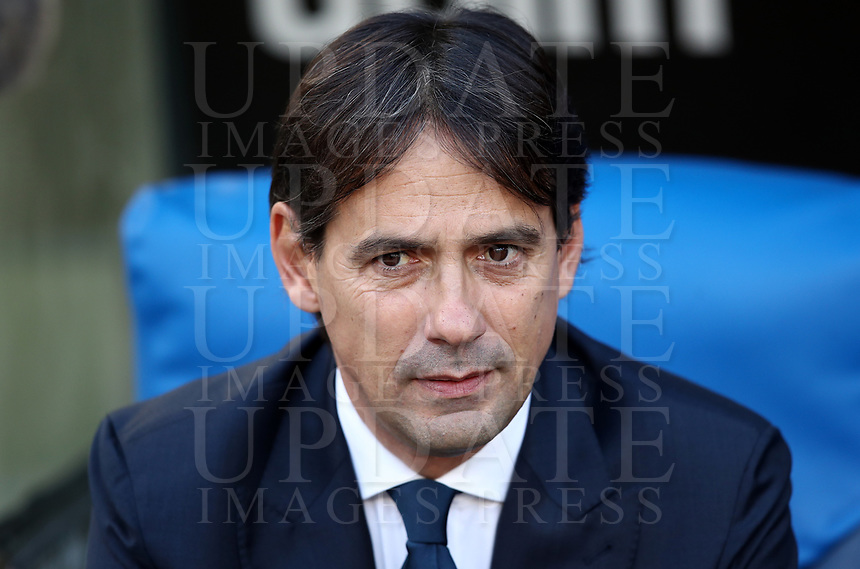 Football, Serie A: S.S. Lazio - Udinese Olympic stadium, Rome, December 1, 2019. <br /> Lazio's coach Simone Inzaghi looks on prior to the Italian Serie A football match between S.S. Lazio and Udinese at Rome's Olympic stadium, Rome on December 1, 2019.<br /> UPDATE IMAGES PRESS/Isabella Bonotto