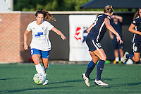 Allston, MA - Sunday July 17, 2016: Stephanie McCaffrey, Kristin Grubka during a regular season National Women's Soccer League (NWSL) match between the Boston Breakers and Sky Blue FC at Jordan Field.