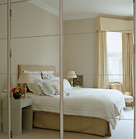 Ann Boyd designed the bedroom furniture that is reflected in the master bedroom's mirrored wardrobe