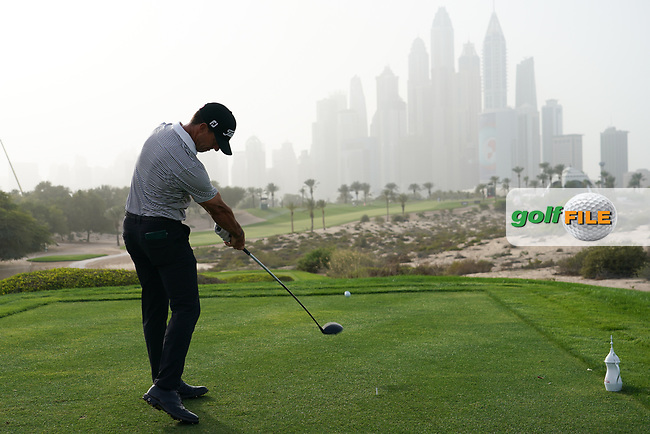 Wade Ormsby (AUS) in action during the first round of the Omega Dubai Desert Classic, Emirates Golf Club, Dubai, UAE. 24/01/2019<br /> Picture: Golffile | Phil Inglis<br /> <br /> <br /> All photo usage must carry mandatory copyright credit (© Golffile | Phil Inglis)