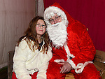 Holly Kealy pictured with Santa when he paid a visit to Slane. Photo:Colin Bell/pressphotos.ie