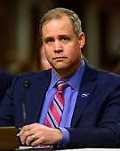 """Jim Bridenstine, Administrator, National Aeronautics and Space Administration, testifies before the United States Senate Committee on Commerce, Science, and Transportation on """"The New Space Race: Ensuring U.S. Global Leadership on the Final Frontier"""" on Capitol Hill in Washington, DC on Wednesday, March 13, 2019.<br /> Credit: Ron Sachs / CNP"""