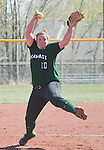April 20, 2012:   University of Hawai'i Warrior pitcher Stephanie Ricketts in the circle against the Nevada Wolf Pack during their NCAA softball game played at Christina M. Hixson Softball Park on Friday in Reno, Nevada.