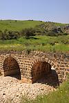 Israel, Lower Galilee, an old bridge in Wadi Amud