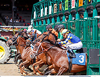 Scenes from around Saratoga Race Course, Sept 4.  Unexplained (No. 6) wins the second race in a three-horse photo finish. Ridden by Rajiv Maragh and trained by Danny Gargan.   (Bruce Dudek/Eclipse Sportswire)