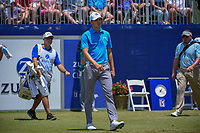Jordan Spieth (USA) heads down 1 during Round 2 of the Zurich Classic of New Orl, TPC Louisiana, Avondale, Louisiana, USA. 4/27/2018.<br /> Picture: Golffile | Ken Murray<br /> <br /> <br /> All photo usage must carry mandatory copyright credit (&copy; Golffile | Ken Murray)