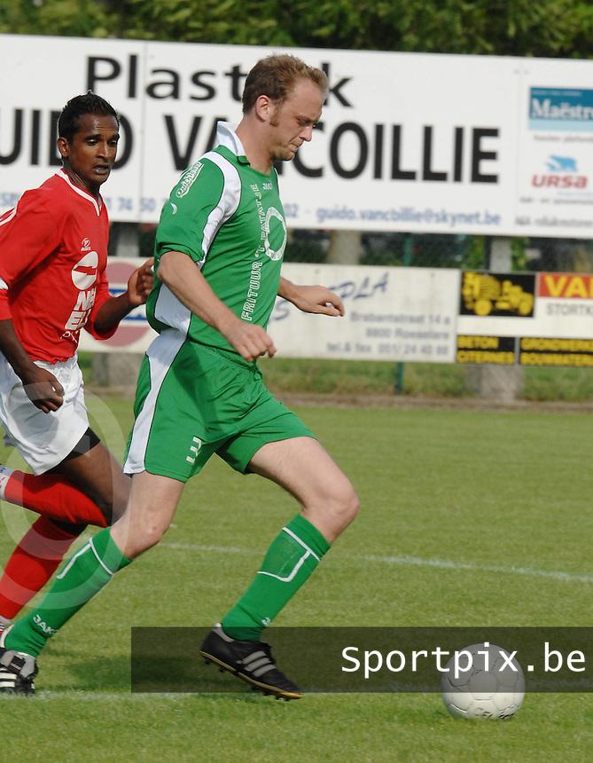 Dosko Beveren : Kevin Van Houtte..Foto DAVID CATRY / VDB
