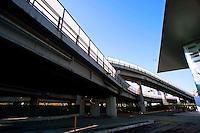 Roma 28 Novembre 2011.Inaugurata la nuova Stazione Tiburtina dell'alta velocità..La tangenziale che verra' abbattuta