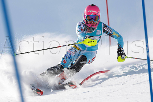 29.01.2012.  Ski Alpine FIS WC St Moritz Super Combination women  Ski Alpine FIS World Cup Super combination for women Slalom Picture shows Laurenne Ross USA