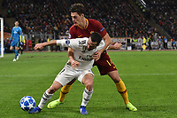 Dani Carvajal of Real Madrid and Patrik Schick of AS Roma compete for the ball during the Uefa Champions League 2018/2019 Group G football match between AS Roma and Real Madrid atOlimpico stadium , Rome, November, 27, 2018 <br />  Foto Andrea Staccioli / Insidefoto