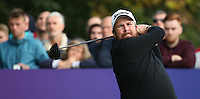 Shane Lowry (IRL) drives to the last during the Final Round of the British Masters 2015 supported by SkySports played on the Marquess Course at Woburn Golf Club, Little Brickhill, Milton Keynes, England.  11/10/2015. Picture: Golffile | David Lloyd<br /> <br /> All photos usage must carry mandatory copyright credit (© Golffile | David Lloyd)
