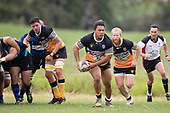 Waikato Maka makes a run off the back of a scrum during the Counties Manukau Premier Counties Power Club Rugby Round 2, Game of the Week, between Te Kauwhata and Onewhero, played at Te Kauwhata on Saturday March 17th 2018. <br /> Photo by Richard Spranger.<br /> <br /> Onewhero won the game 43 - 10 after leading 21 - 10 at halftime.<br /> Te Kauwhata EnviroWaste  10 - Lani Latu try,  Caleb Brown 1 conversion, Caleb Brown 1 penalty.<br /> Onewhero 43 - Jackson Orr 2, Ilaisa Koaneti 2, Vaughan Holdt, Zac Wootten, Rhain Strang tries, Vaughan Holdt 4 conversions.
