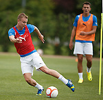 Andy Mitchell amazes Kal Naismith with his ball control skills