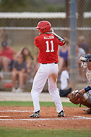 Tyler Nelson (11) during the WWBA World Championship at the Roger Dean Complex on October 12, 2019 in Jupiter, Florida.  Tyler Nelson attends Chesterton High School in Valparaiso, IN and is committed to Indiana State.  (Mike Janes/Four Seam Images)
