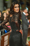 Spanish actress Blanca Romero poses for the photographers on the Orange Carpet for to present the TV serie Bajo Sospecha during of 6th 'FesTVal' Television Festival 2014 in Vitoria, northern Spain. September 05, 2014. (ALTERPHOTOS/Sirocco)