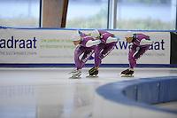 SCHAATSEN: LEEUWARDEN: 21-09-2015, Elfstedenhal, Pim Schipper, Thomas Krol, Stefan Groothuis, ©foto Martin de Jong