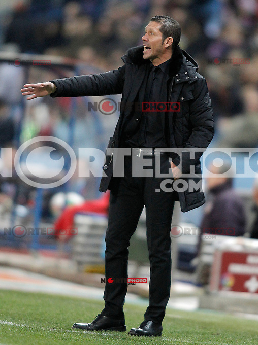 Atletico de Madrid's Diego Simeone during King's Cup match. January 17, 2013. (ALTERPHOTOS/Alvaro Hernandez) /NortePhoto