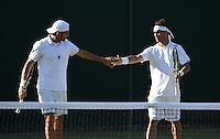 Wimbledon, 27/6/2014<br /> <br /> BOLELLI, Simone (ITA) & FOGNINI, Fabio (ITA)<br /> © Ray Giubilo/ Tennis Photo Network
