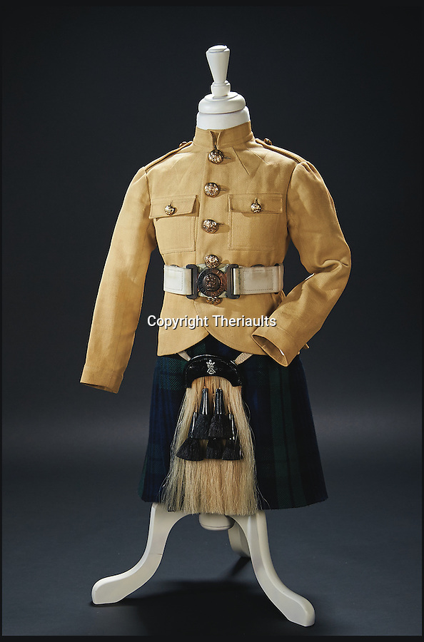 BNPS.co.uk (01202 558833)<br /> Pic: Theriaults/BNPS<br /> <br /> Scottish regimental costume from the 1937 film 'Wee Willie Winkie'.<br /> <br /> The costumes worn by childhood movie star Shirley Temple during her Hollywood career make up a long-lost £1.5m collection belonging to the late actress.<br /> <br /> The curly-haired performer's parents made it a condition that she got to keep all of her outfits after filming rather than return them to the movie studios.<br /> <br /> The child costumes, that include the iconic red and white polka-dot dress the then six year old wore in her breakthrough role in the 1934 flick 'Stand Up and Cheer', have been locked away in a vault at her home for 75 years. They are being sold in Maryland, US.