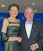 Michael Bloomberg, right, and Diana Taylor arrive for the 2015 White House Correspondents Association Annual Dinner at the Washington Hilton Hotel on Saturday, April 25, 2015.<br /> Credit: Ron Sachs / CNP