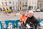 Kerry County Council Engineers James Feely and Eamon Scanlon at the Tralee Town Centre Redevelopment.