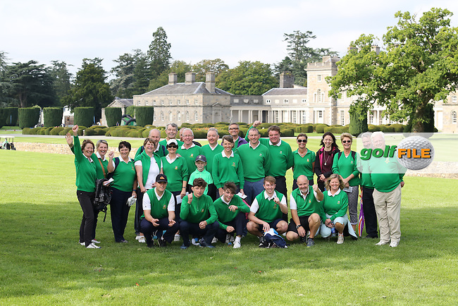 Tralee Supporters during the Semi Final of the AIG Junio Cup at Carton House 14/09/2016.<br /> <br /> Picture: Golffile | Jenny Matthews<br /> <br /> <br /> All photo usage must carry mandatory copyright credit (&copy; Golffile | Jenny Matthews)