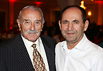 WATERBURY CT. 26 January 2018-012718SV16-From left, Rudy Demiraj of Naugatuck, and Ismail Vinca of Prospect attend the &quot;Year of Skanderbeg,&quot; celebration in Waterbury Friday. The two Waterbury mosques and community centers were celebrating the &quot;Year of Skanderbeg,&quot; honoring the Albanian national hero and founder of their national identity.<br /> Steven Valenti Republican-American