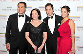 (Left to right) Yo-Yo Ma, Jill Hornor Ma, son Nicholas and daughter Emily Ma arrive for the formal Artist's Dinner honoring the recipients of the 2011 Kennedy Center Honors hosted by United States Secretary of State Hillary Rodham Clinton at the U.S. Department of State in Washington, D.C. on Saturday, December 3, 2011. The 2011 honorees are actress Meryl Streep, singer Neil Diamond, actress Barbara Cook, musician Yo-Yo Ma, and musician Sonny Rollins..Credit: Ron Sachs / CNP