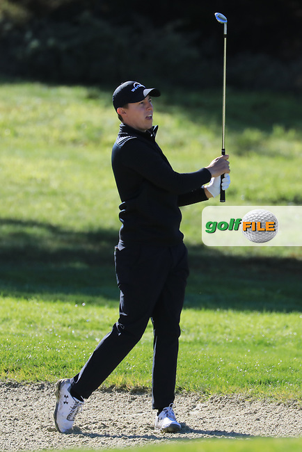 Matthew Fitzpatrick (ENG) in action at Spyglass Hill Golf Course during the third round of the AT&amp;T Pro-Am, Pebble Beach Golf Links, Monterey, USA. 09/02/2019<br /> Picture: Golffile | Phil Inglis<br /> <br /> <br /> All photo usage must carry mandatory copyright credit (&copy; Golffile | Phil Inglis)