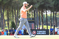 Tyrrell Hatton (ENG) during the final round of the Turkish Airlines Open, Montgomerie Maxx Royal Golf Club, Belek, Turkey. 10/11/2019<br /> Picture: Golffile | Phil INGLIS<br /> <br /> <br /> All photo usage must carry mandatory copyright credit (© Golffile | Phil INGLIS)